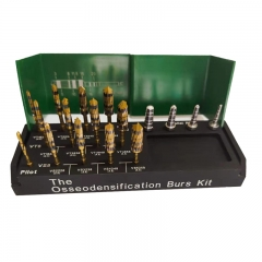 17 Pieces Osseodensification Dental Implant Drills Kit Green color